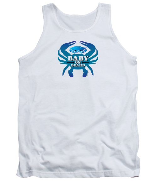Baby On Board, Blue Crab Tank Top