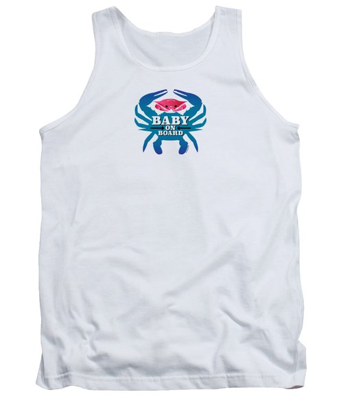 Baby On Board, Pink Crab Tank Top