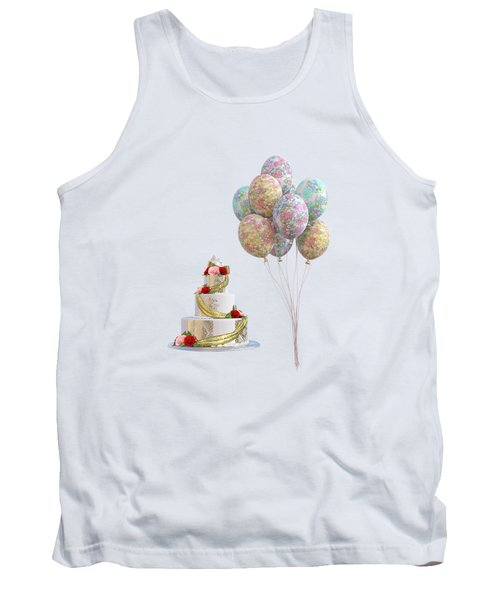 Balloons And Cake Tank Top