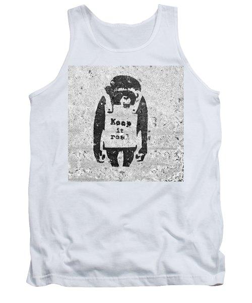 Banksy Chimp Keep It Real Tank Top