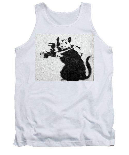 Banksy Rat With Camera Tank Top