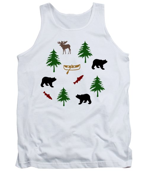 Bear Moose Pattern Tank Top