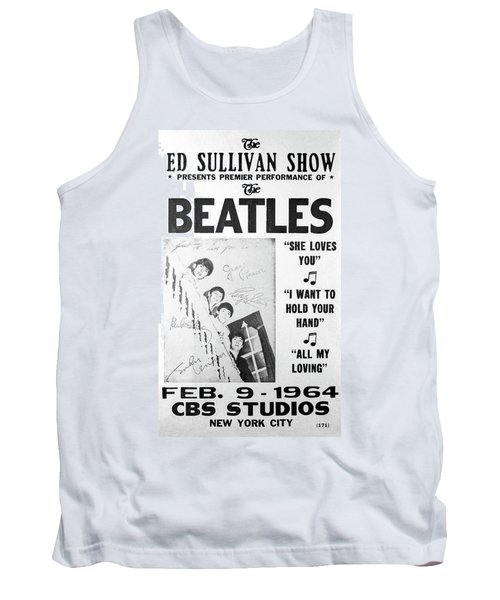 Beatles Ed Sullivan Show Bill 1964 Tank Top