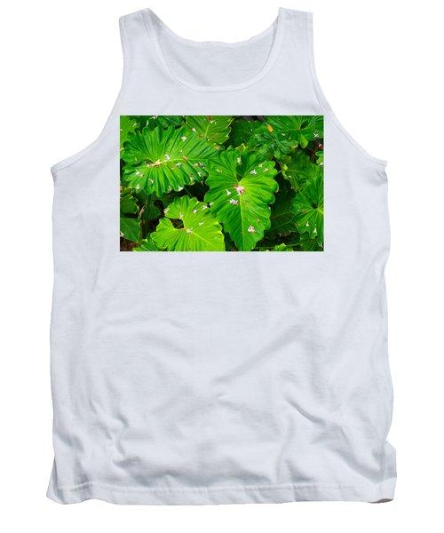 Big Green Leaves Tank Top