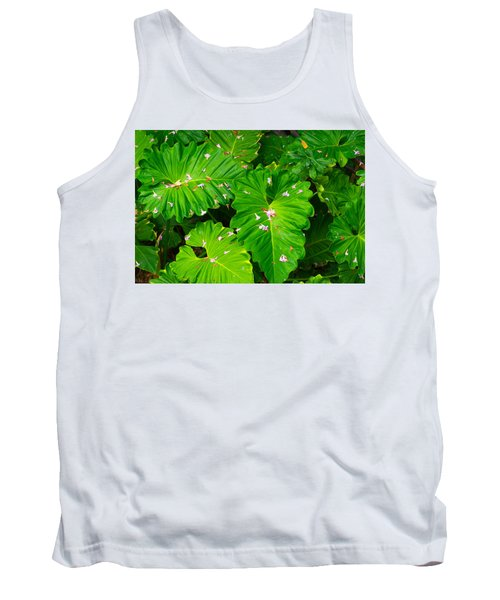Big Green Leaves Tank Top