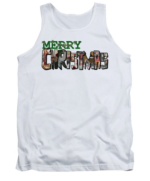 Big Letter Merry Christmas Tank Top