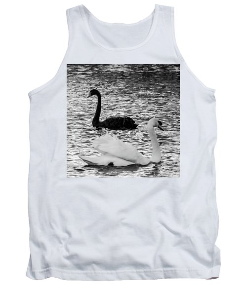 Black And White Swans Tank Top