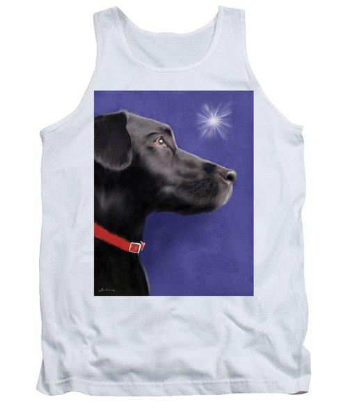 Black Labrador Retriever - Wish Upon A Star  Tank Top