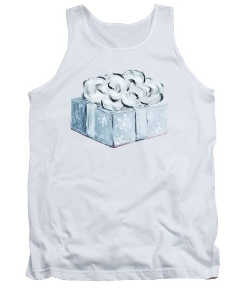 Tank Top featuring the painting Blue Present by Maria Langgle