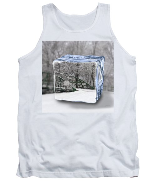 Blue Water Ice Cube Tank Top