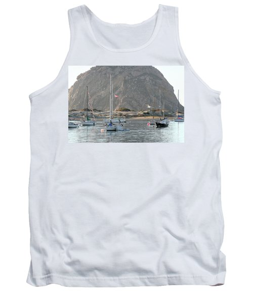 Boats In Morro Bay Tank Top