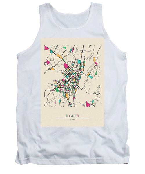 Bogota, Colombia City Map Tank Top