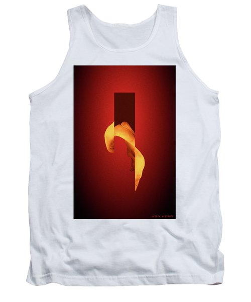 Bone Flare - Surreal Abstract Elephant Bone Collage With Rectangle Tank Top