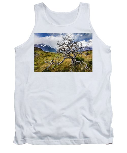 Burnt Tree, Torres Del Paine, Chile Tank Top