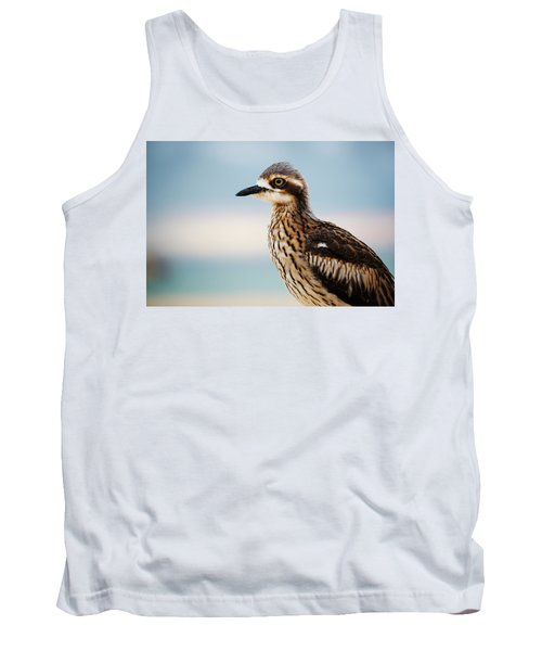 Bush Stone-curlew Resting On The Beach. Tank Top