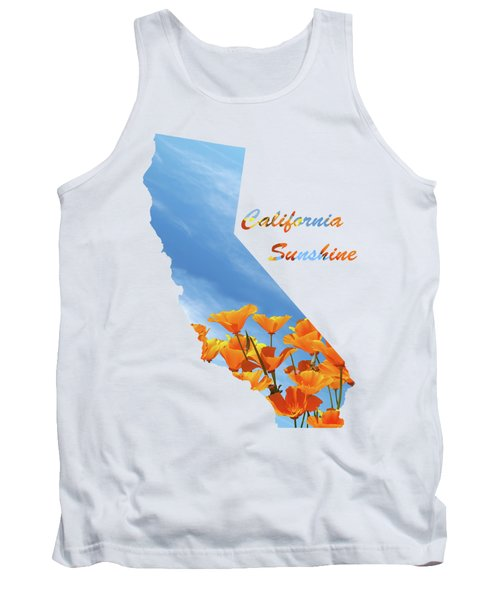 California Sunshine State Map Tank Top