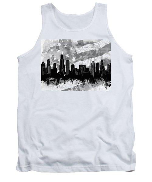 Chicago Skyline Flag Tank Top