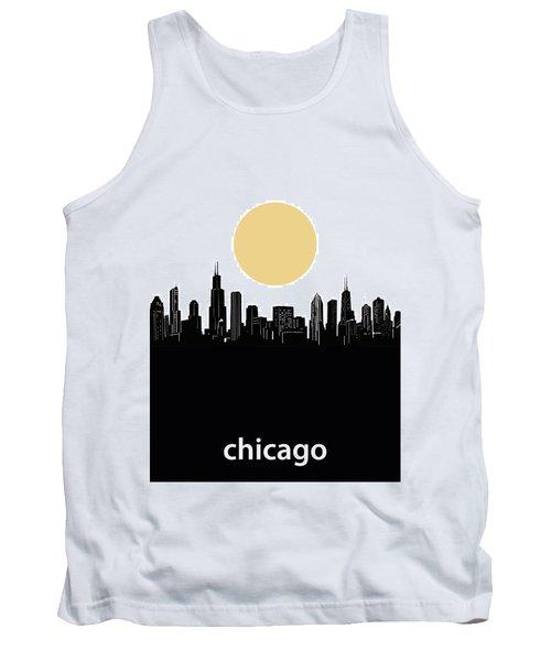 Chicago Skyline Minimalism Tank Top