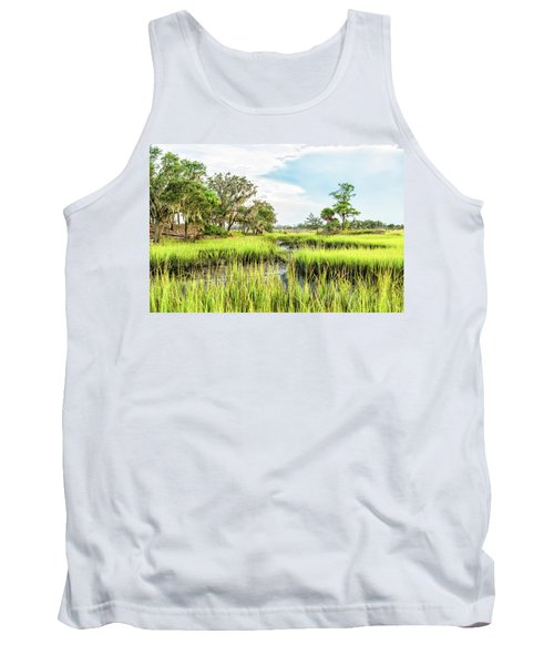 Chisolm Island - Marsh At Low Tide Tank Top