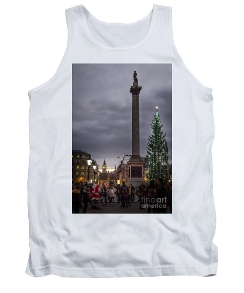 Christmas In Trafalgar Square, London Tank Top