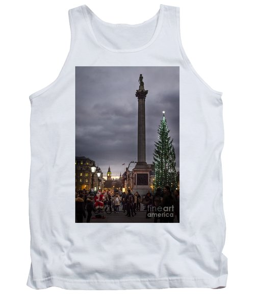 Christmas In Trafalgar Square, London Tank Top