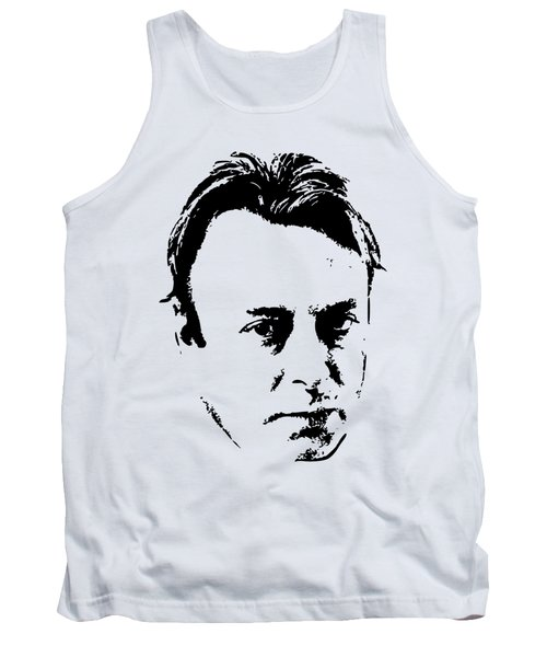 Christopher Hitchens Minimalistic Pop Art Tank Top