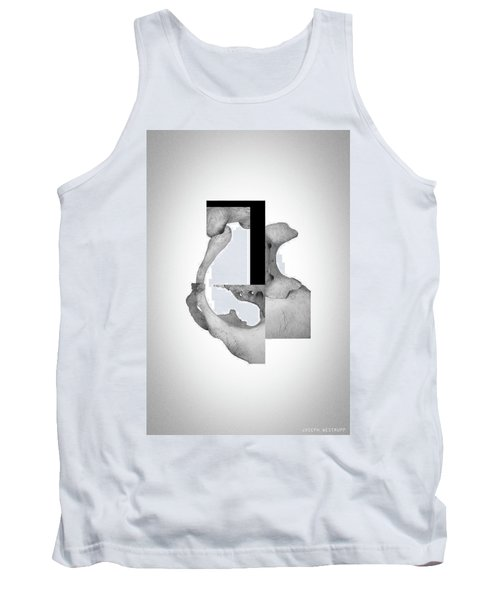 Cinerealism Bereft - Surreal Abstract Bone Collage And Geometry Tank Top