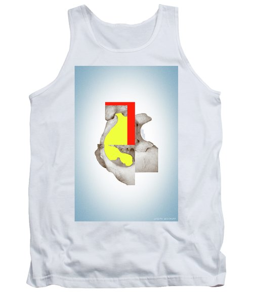 Cinerealism - Surreal Abstract Bone Collage And Geometry Tank Top