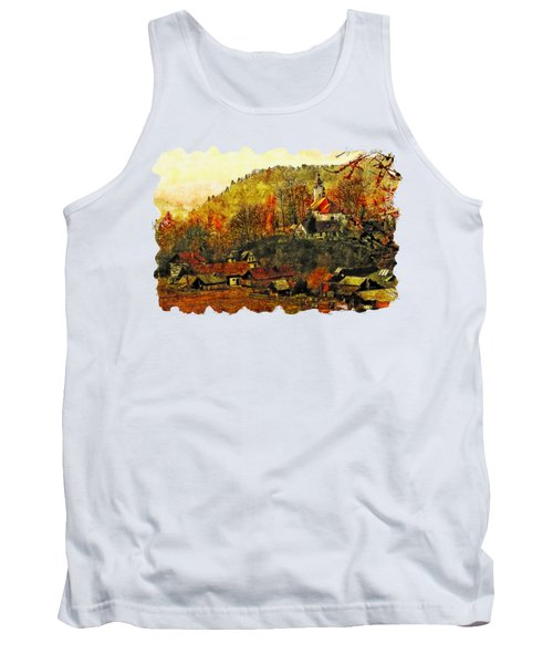 Cityscape Watercolor Drawing  - Poland Tank Top