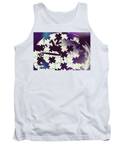 Clock Holes And Puzzle Pieces Tank Top