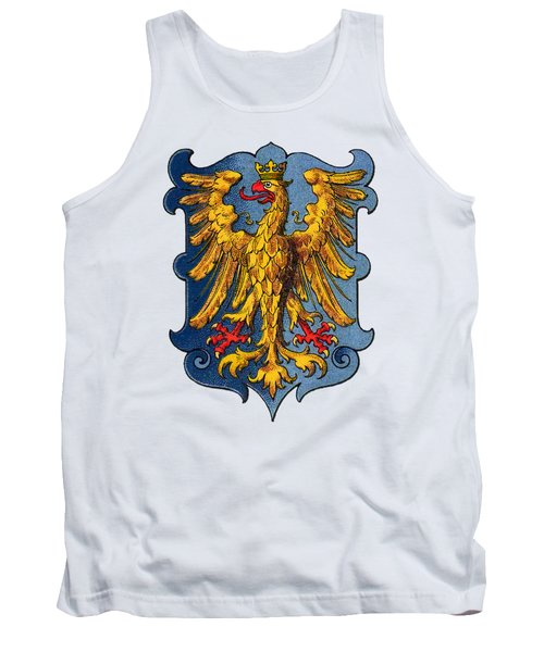 Tank Top featuring the drawing Coat Of Arms Of Friuli  by Hugo Stroehl
