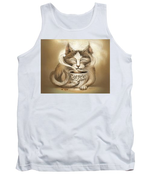 Coffee Cat Tank Top