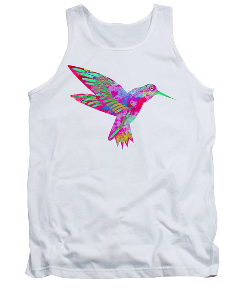 Colored Hummingbird  Tank Top
