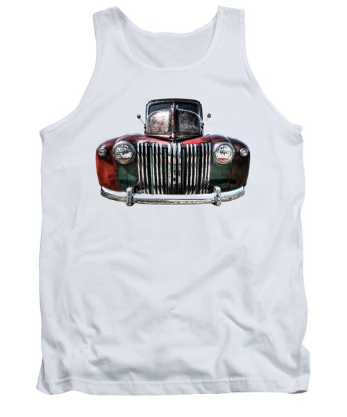 Colorful Rusty Ford Head On Tank Top