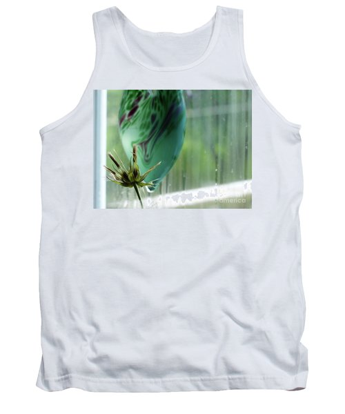 Composition In Green Tank Top