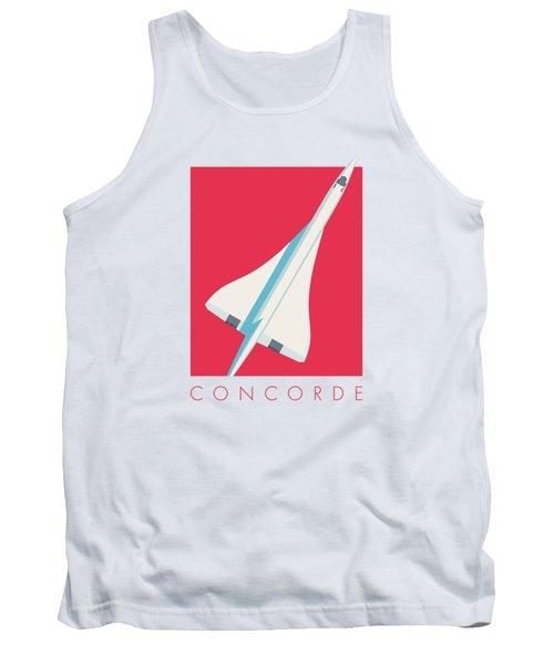 Concorde Jet Airliner - Crimson Tank Top