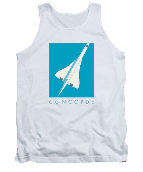 Concorde Jet Airliner - Cyan Tank Top