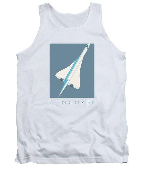 Concorde Jet Passenger Airplane Aircraft - Slate Tank Top