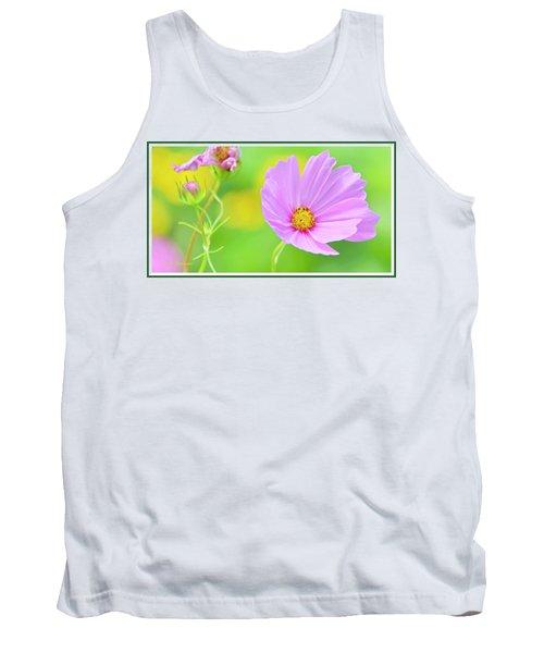 Cosmos Flower In Full Bloom, Bud Tank Top