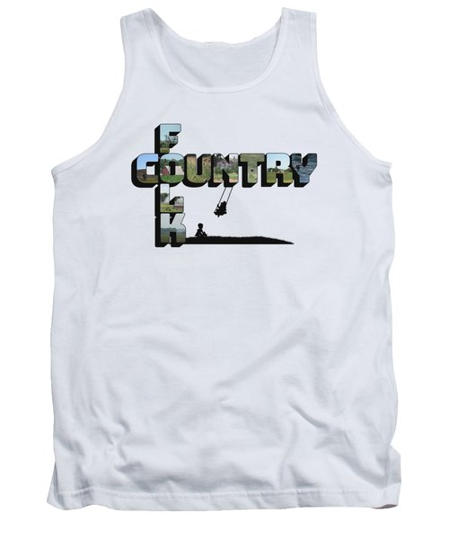 Country Folk Big Letter Graphic Art Tank Top