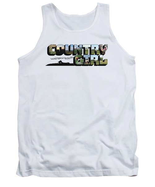Country Girl Big Letter Tank Top