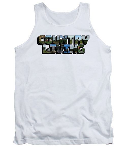 Country Living Big Letter Tank Top