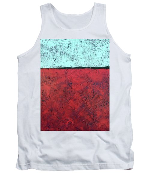 Crimson Earth Meets Pearl Sky Tank Top