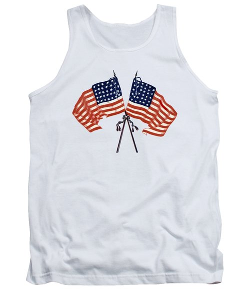Crossed Civil War Union Flags 1861 - T-shirt Tank Top