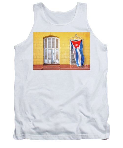 Cuban Flag In Trinidad Tank Top