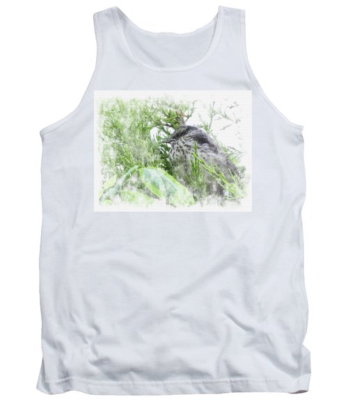 Cute Little Bird On Tree Tank Top