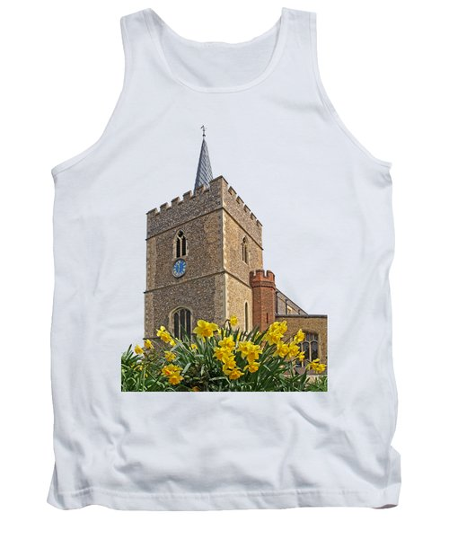 Daffodils Blooming At St. Mary's Church Tank Top