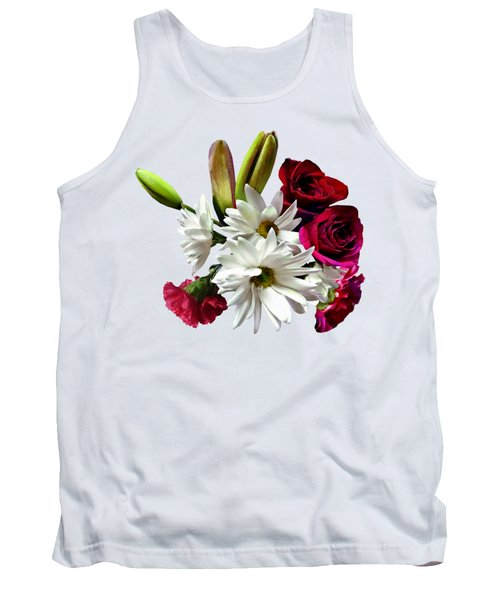 Daisies, Roses And Carnations Tank Top