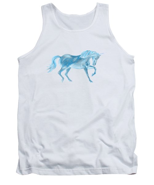 Dancing Blue Unicorn Tank Top