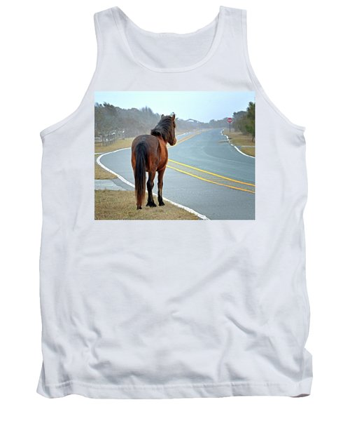 Delegats's Pride Looking For Visitors To Assateague Island Tank Top